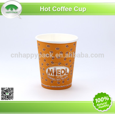 Environment friendly PLA colorful printed single wall paper cups for hot beverage