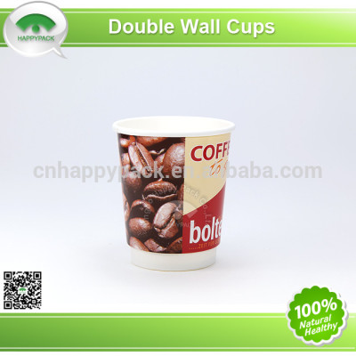 Double wall paper cup for hot drinks