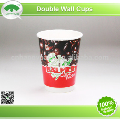2014New design 12oz double wall paper cup with lid