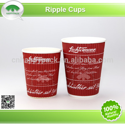 Environment friendly PLA ripper paper cups with lid
