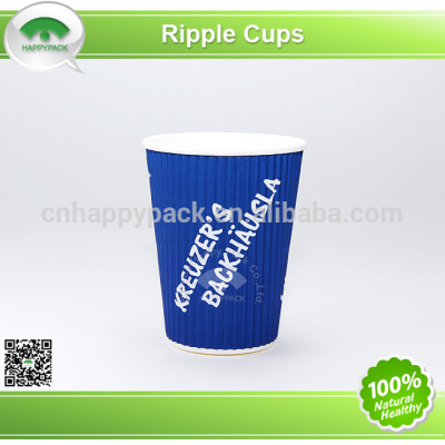 Environment friendly PLA corrugated paper cups with lid