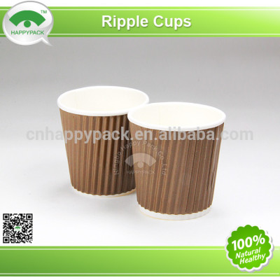 2014New design Vertical corrugated paper cup with lid