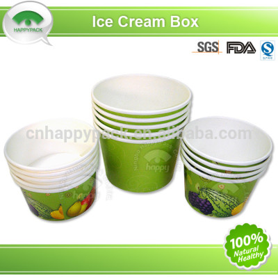 Disposable colourful ice-cream paper cup with high quality