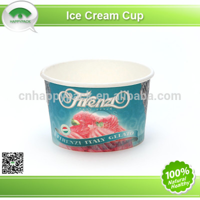 Printed ice-cream paper cup with high quality