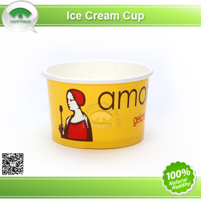 2015 New Design Disposable Paper Ice Cream Cup