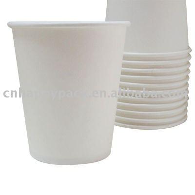 Plain white vending paper cups