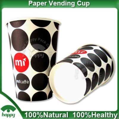 Printed vending paper cups