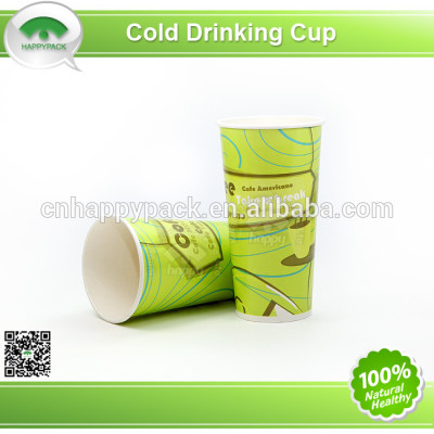 Disposable printed paper cup for cold drink