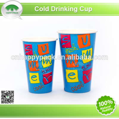 Good quality printed paper cup for cold drink