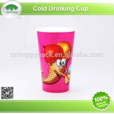 Disposable environment friendly PLA paper cup for cold drink