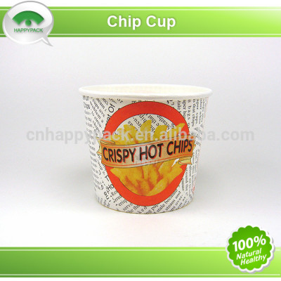 2014New design 12oz hot chip cup with beautiful logo