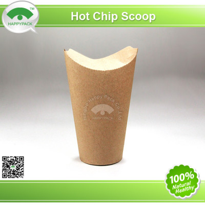 Disposable Hot Fish Chip Paper Scoop