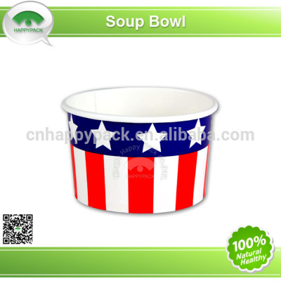 Good quality disposable printed paper soup bowl