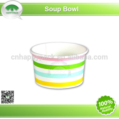 Environment friendly PLA disposable printed paper soup cup