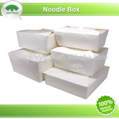 Disposable white paper take away box