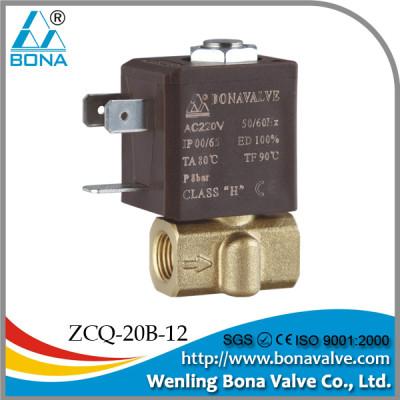 BONA Brass Solenoid Valve for Welding Machines ZCQ-20B-12