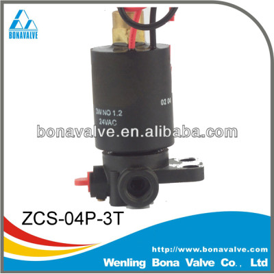 Plastic 3 Way Solenoid Valve for filter (ZCS-04P-3T)