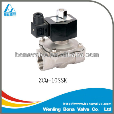 Nomally Open Stainless Steel Solenoid Valve / water valve (ZCQ-10SSK)