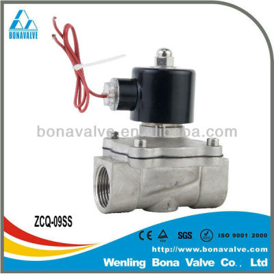 Normally close stainless steel solenoid valves