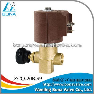 steam boiler solenoid valve for steam
