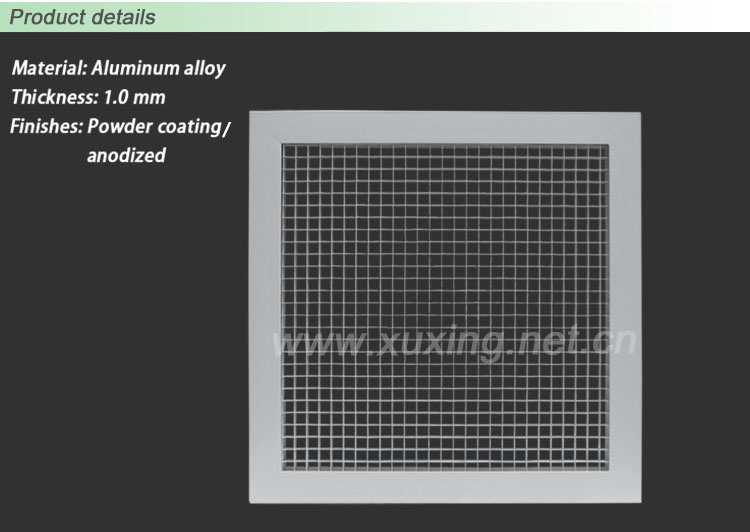 Grid Ceiling Return Air Grille : Aluminum ceiling eggcrate return air grille for havc