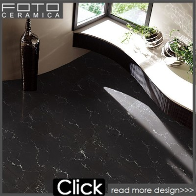 Black Galaxy Marble Design Polished Porcelain Floor Tilechina Black