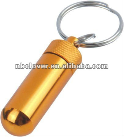 2012 new style metal pill box with keyring for promotion