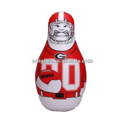 42 Inch Inflatable Punching Bag Rugby Player Bop Inflated Sport Man