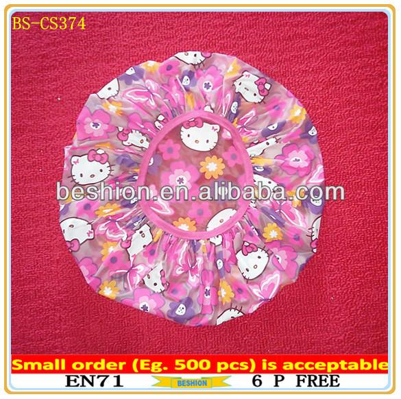 pe shower cap with custom color
