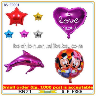Custom shaped foil helium balloon, aluminium foil balloon