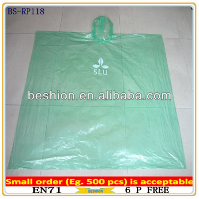 PE Disposable Promotion Rain poncho