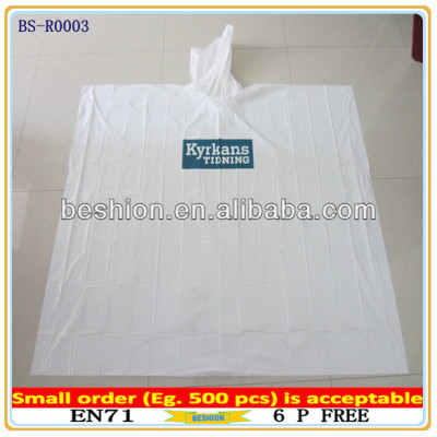 New material promotion printing disposable pe poncho,disposable pe rain poncho