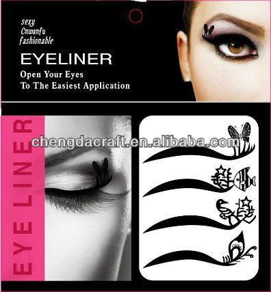 Makeup stickers for eyes