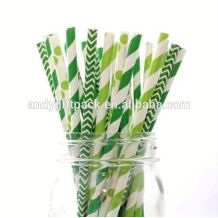 Wholesale biodegradable colorfule disposable Paper packing straw