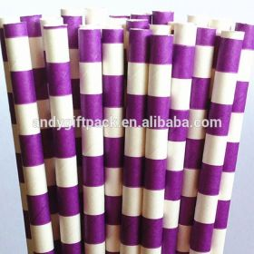 Well Packed Stripe paper drinking straw
