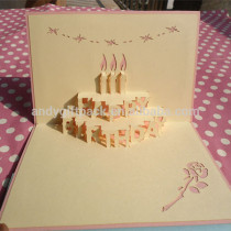 New Arrival Happy Birthday 3D Greeting Card