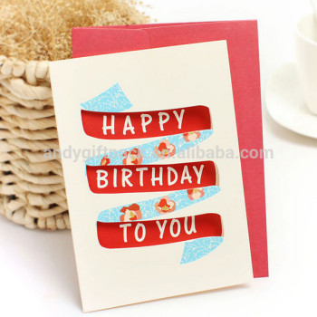 Wholesale New Design Happy Birthday Greeting Card