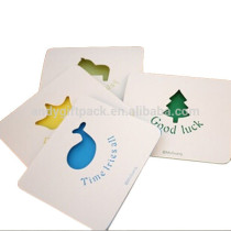 New Arrival Pierced Colorful Writing Greeting Card