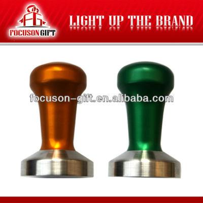 Promotion custom logo Aluminum Handle Stainless Steel Base espresso