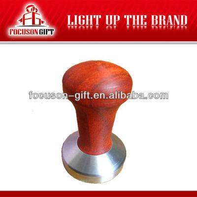 Promotion custom logo Rosewood handle Stainless Steel Base coffee equipment