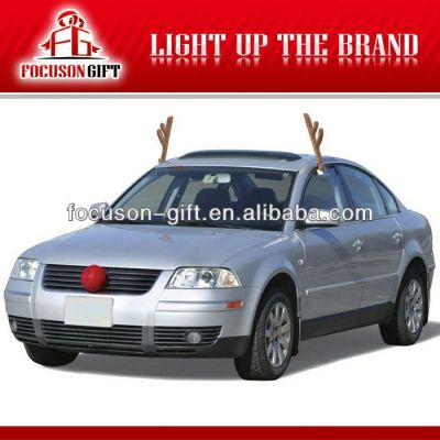 Promotion Christmas gift antlers on car