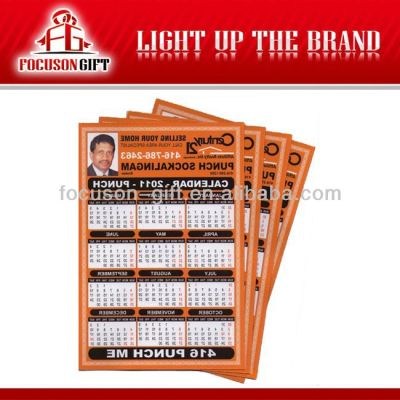 Promotional Customized logo Gift calendar magnet