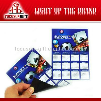 Promotional New Year Gift magnetic calendar 2014