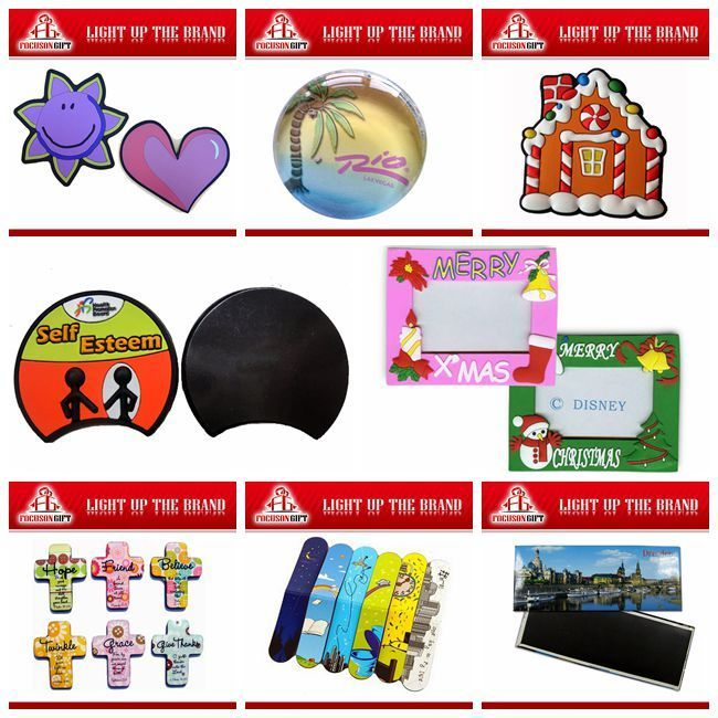 Promotion Christmas item Rubber photo magnets