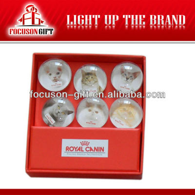 Eco-Friendly Custom crystal glass Promotional Fridge Magnet
