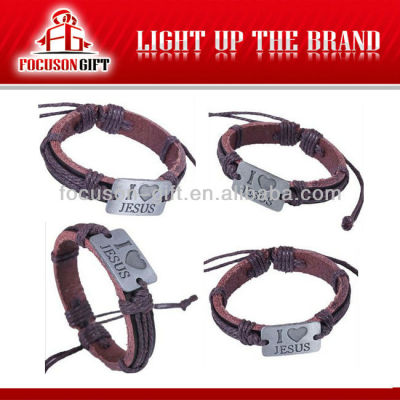 Adjustable Cool Christmas Gift Handmade 2013 leather bracelets
