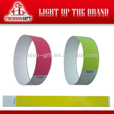 Advertising Company Logo tyvek paper wristband