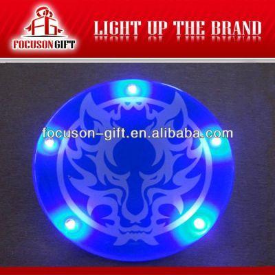Promotional item blinking tin badges