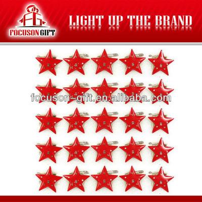 Promotional item Star flashing light badges