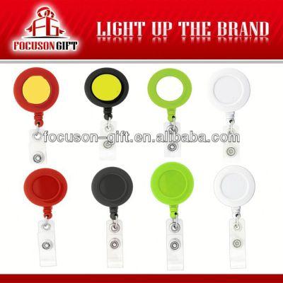 Plastic Round shape badge reel holder